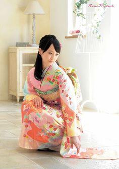 Rena Matsui:松井玲奈  japanese idol(SKE48 teamE/乃木坂46)  KIMONO.