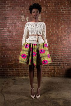 The Maggie -African Print 100% Holland Wax Cotton Mini Skirt