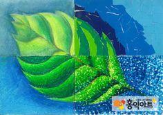 10세 여자아이 그림 - 나뭇잎