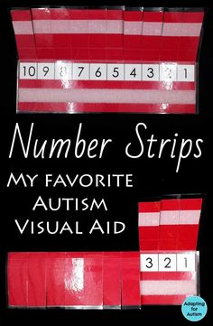 This number strip is my favorite autism visual aid. Includes a free printable so you can easily add this behavior management tool to your special education classroom!