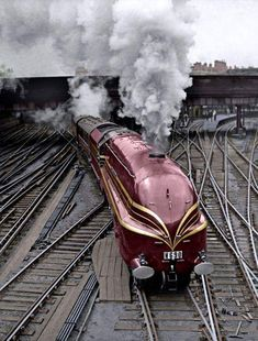 The new LMS streamlined locomotive, Duchess of Gloucester, leaves Euston Station in London on her first long distance journey, June She is transporting fifteen German railway experts to a. Get premium, high resolution news photos at Getty Images Train Pictures, Funny Pictures, Amazing Pictures, Funny Pics, Funny Memes, Hamilton, Train Miniature, Steampunk, Train Art