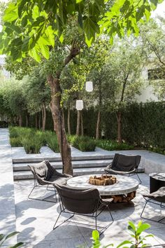 social space in the garden with sylish furniture   adamchristopherde...