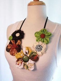 This photo is from Yahoo Images. this flower necklace with vintage buttons by etsy s justliv
