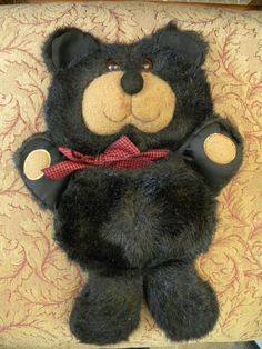Vintage Bear with Pocket Belly  Faux Fur  too cute by PeoplePuppys