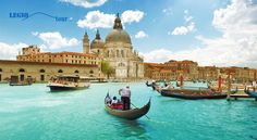Grand Canal and Basilica Santa Maria della Salute, Venice, Italy and sunny day . 5 Quotes About Italy That Will Awake Your Wanderlust Places Around The World, Travel Around The World, Around The Worlds, Places To Travel, Places To See, Travel Destinations, Holiday Destinations, Dream Vacations, Vacation Spots