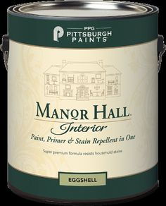The next generation of PPG Pittsburgh Paints Manor Hall® is here! The quality and heritage continues. PPG is heralding this new paint, primer and stain repellent as their best can of paint to date! It's self-priming with outstanding adhesion which provides excellent coverage and hiding. Avail. in Flat, Eggshell, Satin & Semi-Gloss. Save 25% off right now at Central!
