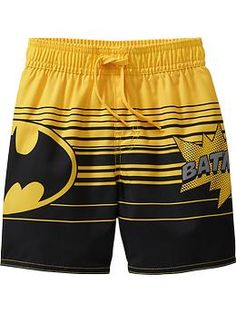 DC Comics™ Batman Swim Trunks for Baby Product Image - Kartusmanya Baby & Toddler Clothing, Toddler Outfits, Toddler Boys, Kids Outfits, Cute Boy Outfits, Little Boy Outfits, Boys Swimwear, Swimsuits, Baby Boy Batman