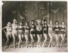African American vaudeville performers (showgirls/chorus line) dressed in very risque (for the time) feline costumes. Undated.