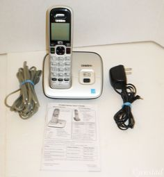UNIDEN D1660 SINGLE CORDLESS PHONE DECT6.0 CALLER ID HANDSET 6.0 LANDLINE USED #Uniden