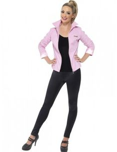 4c974a7469f1e Grease Deluxe Pink Ladies Jacket Fancy Dress Jackets, 1950s Fancy Dress,  Adult Fancy Dress