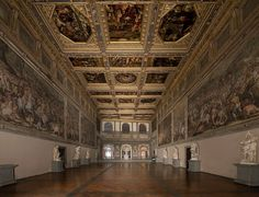 "IL SALONE DEI CINQUECENTO - ""was the largest room in the world. It had been built in 1494 to provide a meeting hall for the entire Consiglio Maggiore—the republic's Grand Council of precisely five hundred members—from which the hall drew its name"" - chapter 35"