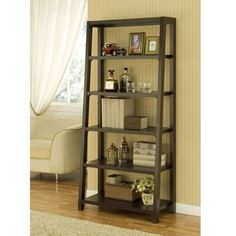 @Overstock - Add an extra touch of storage and style to your home with a step bookcaseBook shelf is the perfect way to stay organized Chic ladder-style shelf showcases an inventive design sure to complement any decorhttp://www.overstock.com/Home-Garden/Coffee-Bean-5-tier-Step-Bookcase/4374756/product.html?CID=214117 $174.59