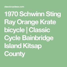 1970 Schwinn Sting Ray Orange Krate bicycle   Classic Cycle Bainbridge Island Kitsap County