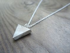 Perfect gift for those who love simplicity. Minimalistic Sterling Silver Triangle Necklace – a unique product by annacid via en.DaWanda.com