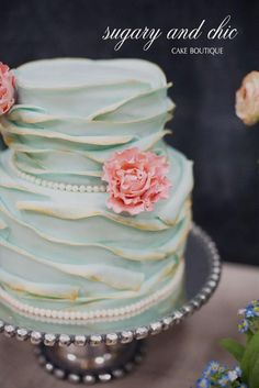 Vintage French Garden Cake - by Sugaryandchic @ CakesDecor.com - cake decorating website