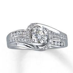 14K White Gold 3/4 Carat t.w. Diamond Ring