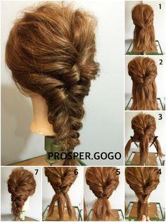 ヘアアレンジのヘアアクセサリーを使ったYUKO KAWANOさんのコーディネートです。│クルリンパを2回して、三つ編みするだけの...