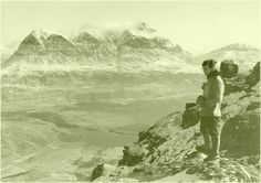 Myself on Cul Mor with Quanaig beyond 1974 # Photo - Pete McGowan # RAF Kinloss Mountain rescue team training.