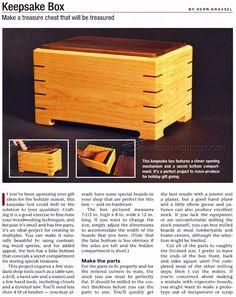 Keepsake Box Plans - Woodworking Plans