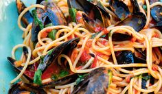 Spaghetti with Mussels and Tomato Sauce From A Taste of Home