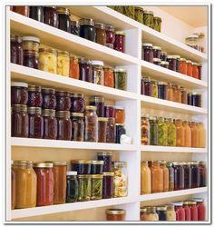 Canning Jar Storage Shelves   Bing Images