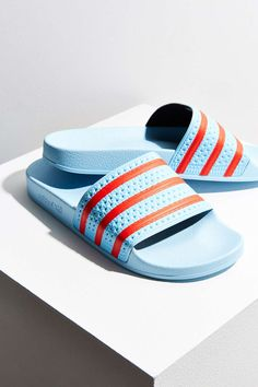f10fd16fce51 adidas Blush Blue Adilette Pool Slide