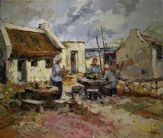 Aviva Maree, Ma Leen se Kombuishuis Art Painting, Landscape Paintings, Art Painting Oil, Artist At Work, Painting, Driftwood Art, South African Art, South African Artists, Sea Art