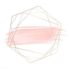 Gold geometric frame on a pink brushstroke background Framed Wallpaper, Pink Wallpaper, Iphone Wallpaper, Powerpoint Background Design, Logo Background, Pink Glitter Background, Nail Logo, Instagram Background, Floral Logo