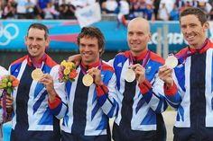 Canoe: In the Mens Double  Team GB's Tom Baillie & Etienne Stott take Gold and Team GB's David Florence & Richard Hounslow take silver... OMG!