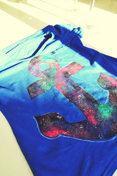 Love Triangle Blog: Customização: Galaxy Print