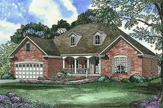 Traditional Exterior - Front Elevation Plan #17-1093 - Houseplans.com