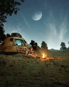 Space Artwork, Space Painting, Moon Painting, Galaxy Painting, Galaxy Art, Iphone Lockscreen Wallpaper, Space Phone Wallpaper, Planet Painting, Astronaut Illustration