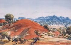 Albert Namatjira is Australia's foremost aboriginal artist, and the pioneer of contemporary Indigenous Australian art specialising in watercolour landscapes Aboriginal History, Aboriginal Artists, Aboriginal People, Watercolor Landscape, Landscape Paintings, Watercolor Paintings, Watercolour, Australian Painting, Australian Artists