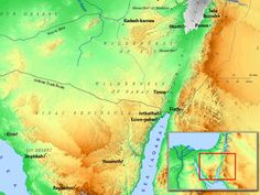 Maps of Egypt and the Sinai Peninsular. (Bible overview)