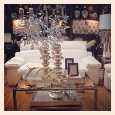 Winter white inspiration #zgallerie. I always decorate in white and silver for Christmas!