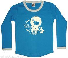 Blauw t-shirt 'Little Eskimo' - My Roots