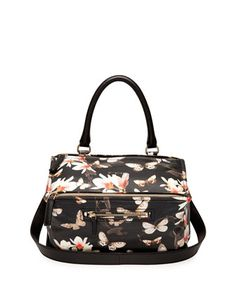 Pandora Medium Leather Shoulder Bag, Magnolia Print by Givenchy at Neiman Marcus.