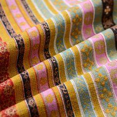 bohemia fabriccotton linen fabricfloral linen by APlusCloth