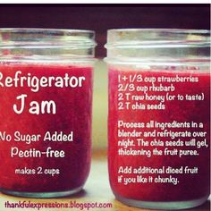 Refrigerator Jam - easy recipes - chia seeds strawberries