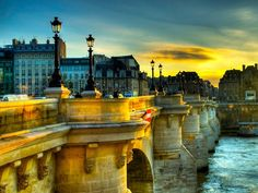 Pont Neuf at dusk -- It's an incredible feeling to stand on the oldest bridge crossing the River Seine in Paris