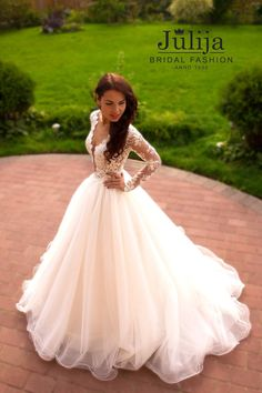 Exclusive luxury wedding dress 2016.Lace princess by JulijaWedding