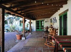 Early 1930's Cliff May ranch in San Diego, where his work was 'more characteristic' of his literal interpretation of the Mexican Hacienda.