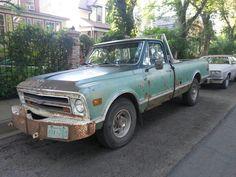 Old green Chevrolet