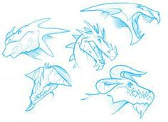 how to draw dragon heads step 6