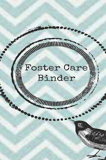 Foster Care Binder