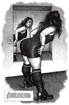 "Robert CRUMB 1996 - ART  BEAUTY MAGAZINE #2 - ""… her lovely posterior…"""