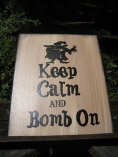 Mad Bomber EOD Bomb Squad sign art that I painted. teehee