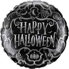 Halloween Goth Scroll Foil Round 18in 45cm