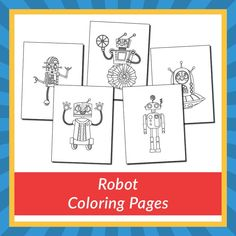 Robot Coloring Pages - Gift of Curiosity