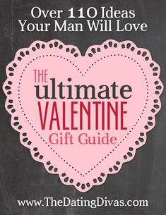 Fun rond-up of Valentine gift ideas for HIM from TheDatingDivas.com
